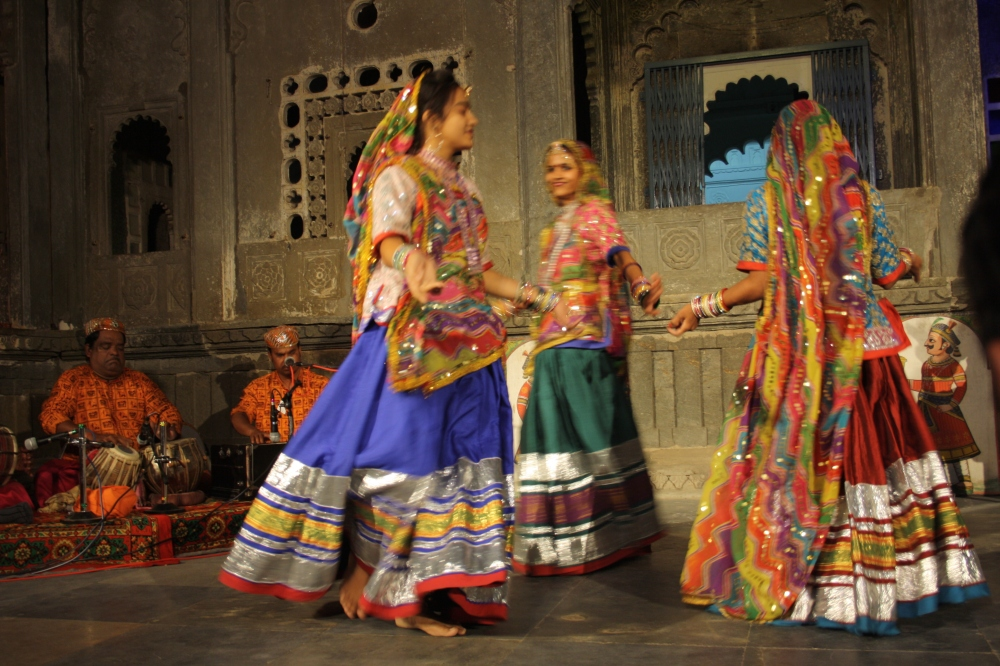 A dance show in Udaipur, Rajasthan