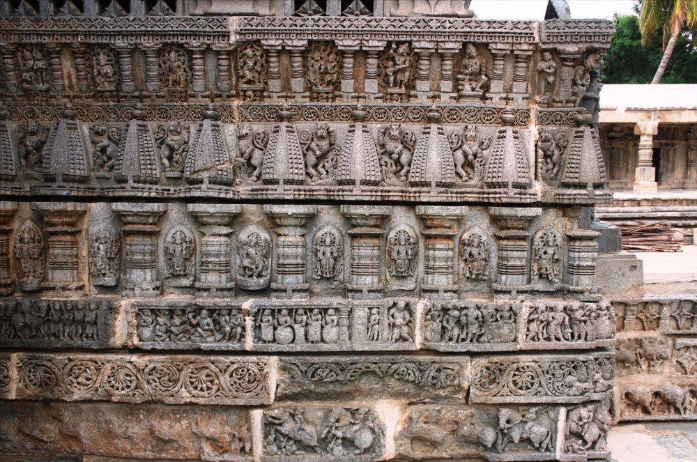 Intricate details on the temple complex