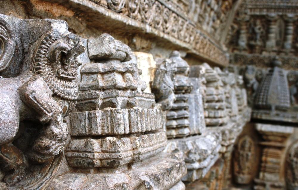 Sandstone designs of somanathapura temples