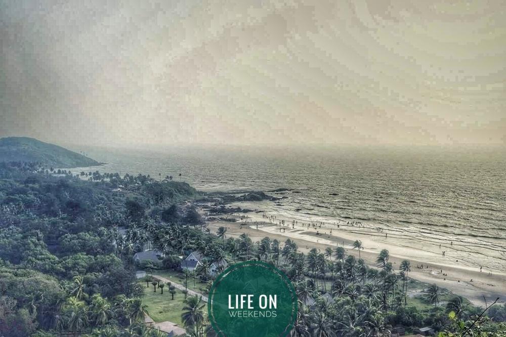 Vagator beach near chapora fort, Goa