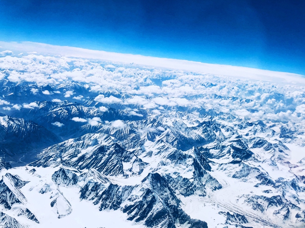 View from airplane - en-route to Ladakh
